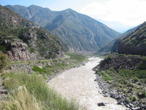 Andes Mountains to Mendoza Argentina